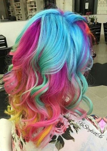 Crazy colorful hair colour ideas for long hair 29