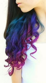 Crazy colorful hair colour ideas for long hair 39