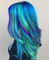 Crazy colorful hair colour ideas for long hair 52