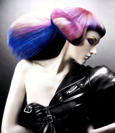 Crazy colorful hair colour ideas for long hair 6