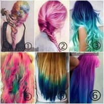 Crazy colorful hair colour ideas for long hair 7