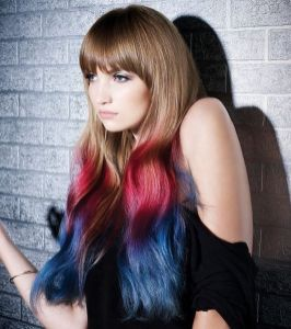Crazy colorful hair colour ideas for long hair 96