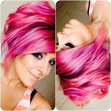 Crazy hair colour ideas for medium and short hair 12