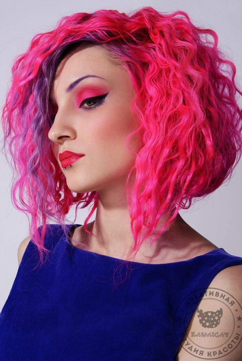 Crazy hair colour ideas for medium and short hair 56