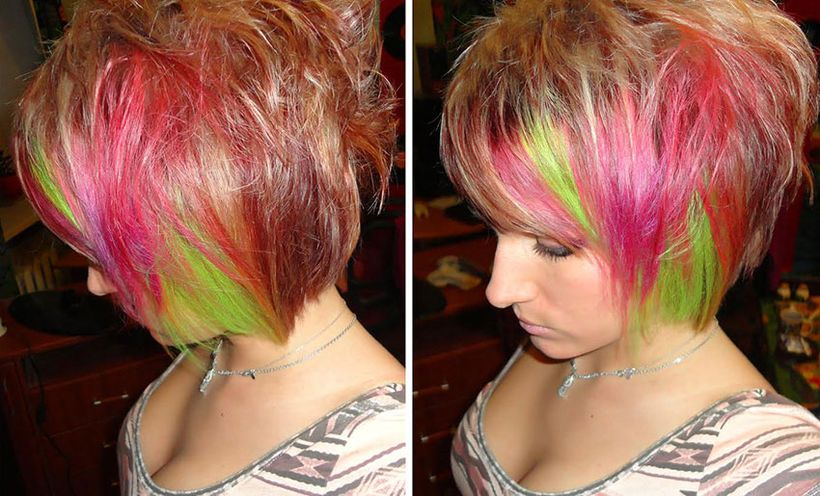 Crazy hair colour ideas for medium and short hair 87