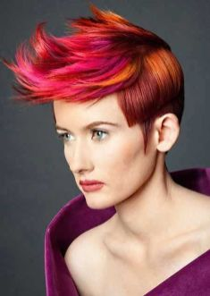 Crazy hair colour ideas for medium and short hair 94