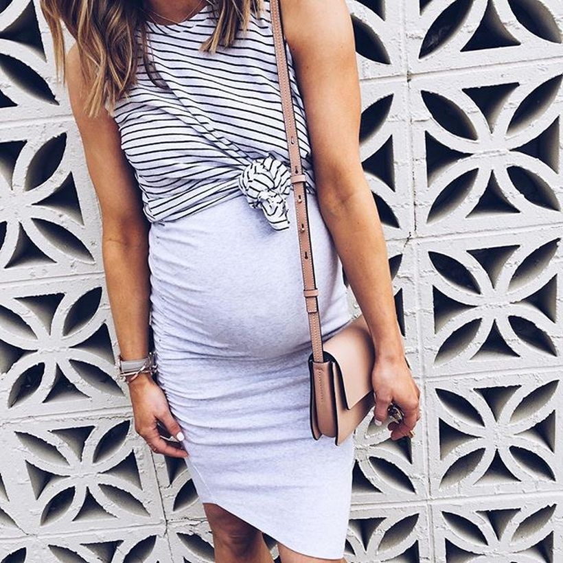Fashionable maternity outfits ideas for summer and spring 120