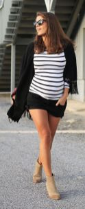 Fashionable maternity outfits ideas for summer and spring 67
