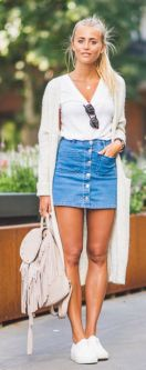 Fashionable skirt outfits ideas that you must try 11