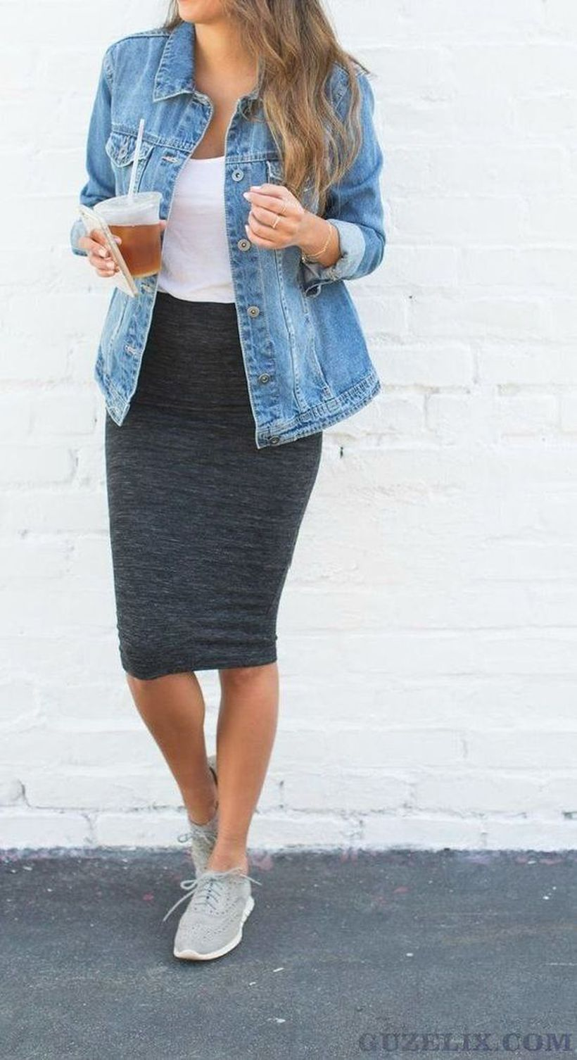 Fashionable skirt outfits ideas that you must try 14