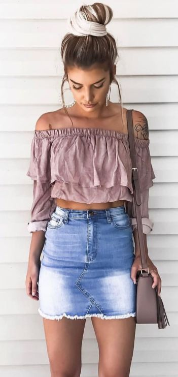 Fashionable skirt outfits ideas that you must try 3