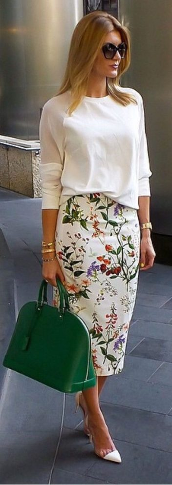Fashionable skirt outfits ideas that you must try 35