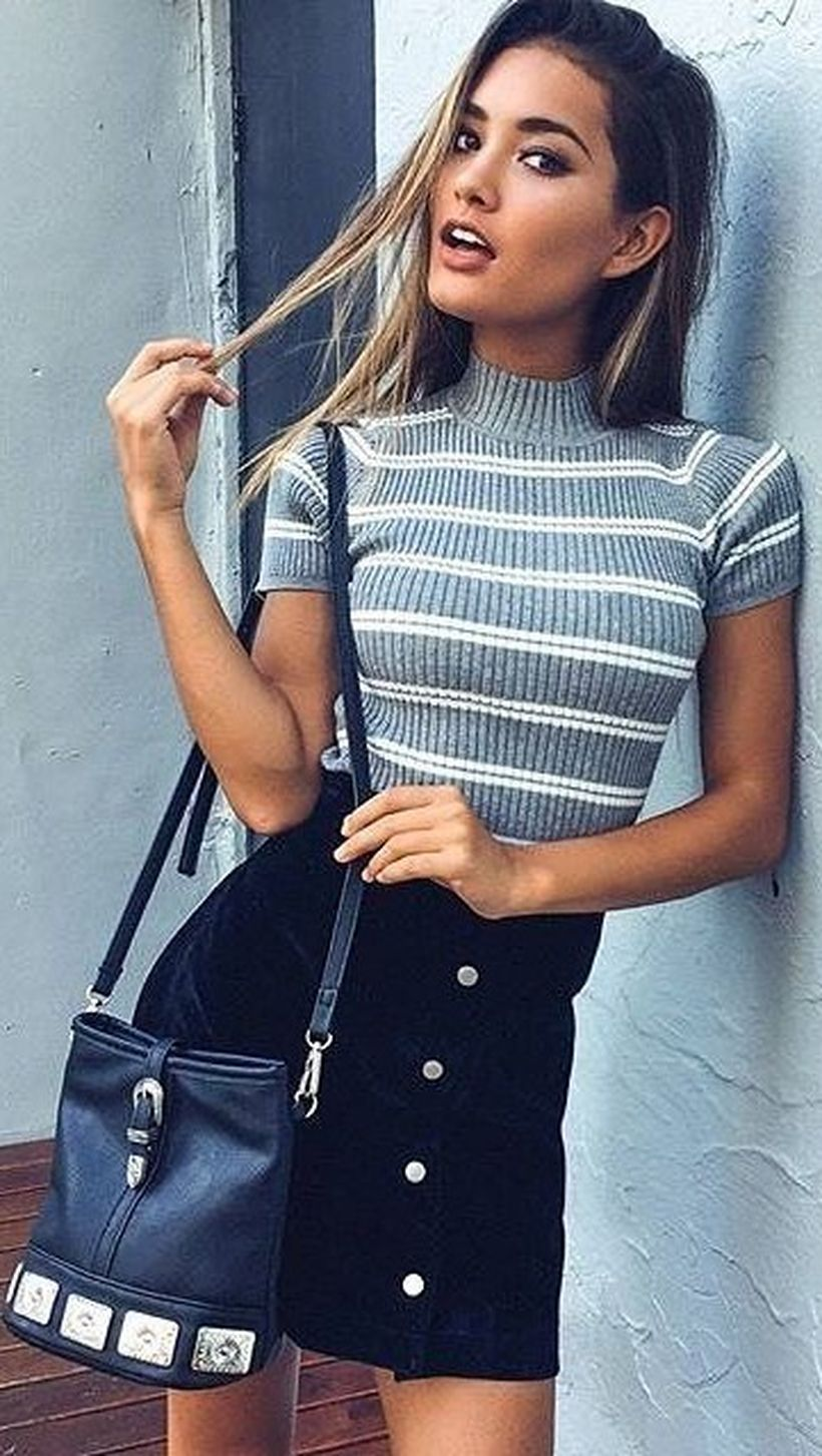 Fashionable skirt outfits ideas that you must try 38