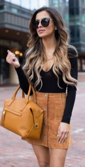 Fashionable skirt outfits ideas that you must try 39