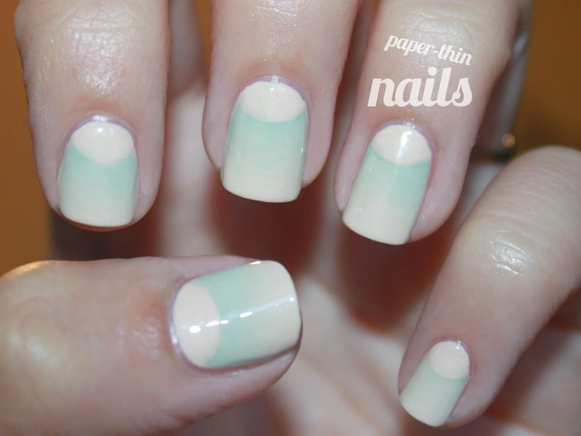 Inspiring half moon nails art to copy 6