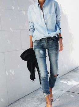 Inspiring simple casual street style outfits ideas 31