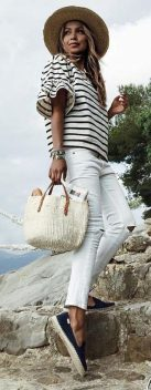Perfect ways to wear white denim jeans outfits 1
