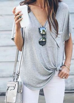 Perfect ways to wear white denim jeans outfits 17