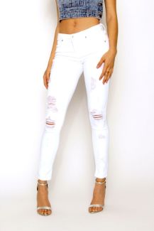 Perfect ways to wear white denim jeans outfits 28