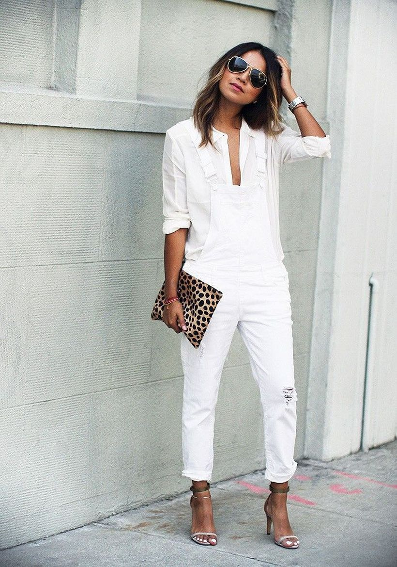 Perfect ways to wear white denim jeans outfits 37