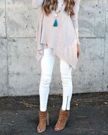Perfect ways to wear white denim jeans outfits 54