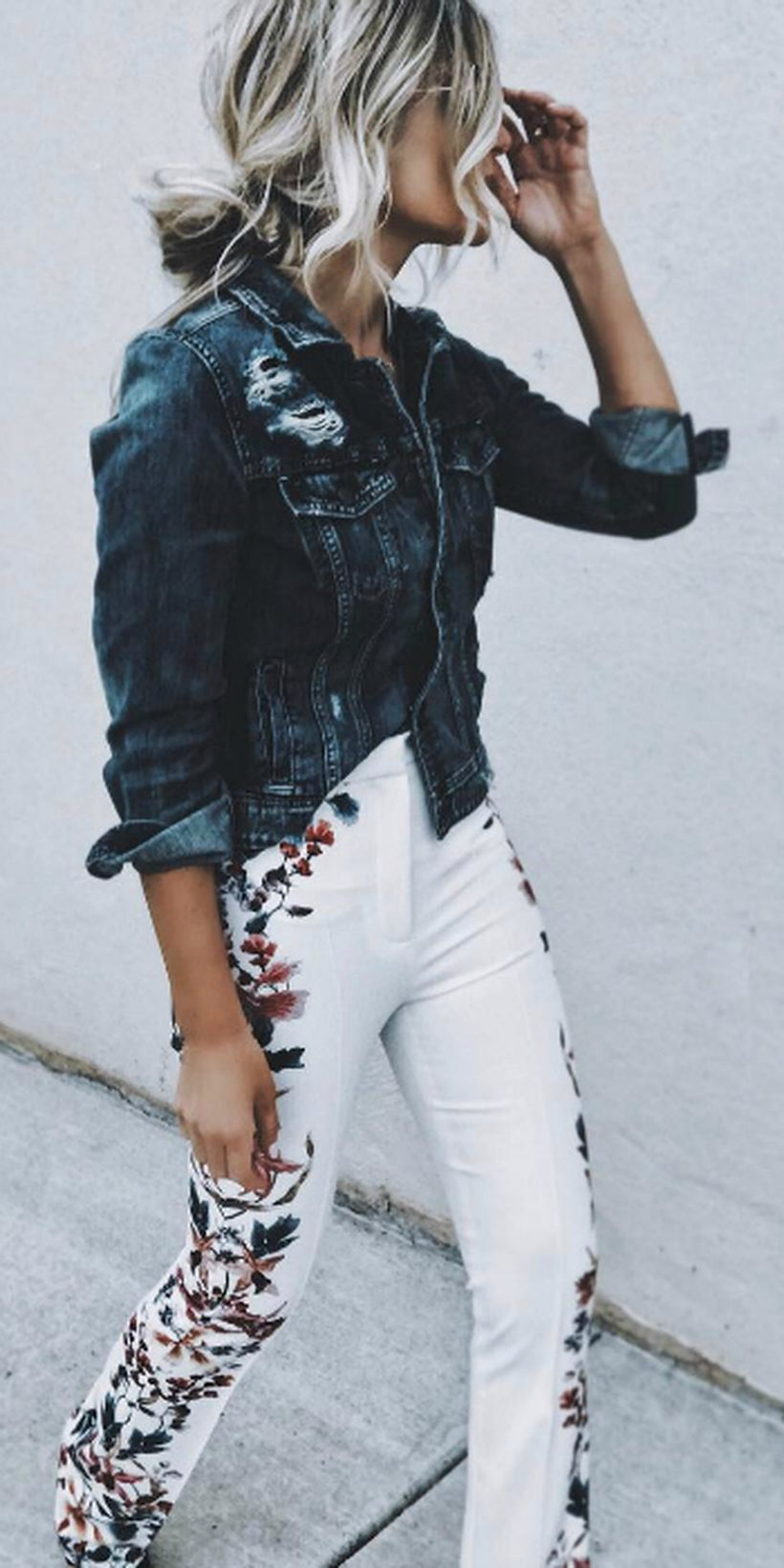 Perfect ways to wear white denim jeans outfits 63