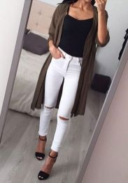 Perfect ways to wear white denim jeans outfits 69