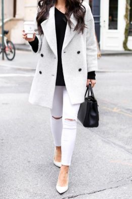 Perfect ways to wear white denim jeans outfits 77