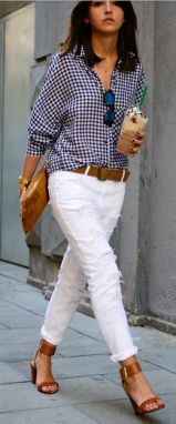 Perfect ways to wear white denim jeans outfits 94