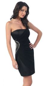 Stunning black short dresses outfits for party ideas 113