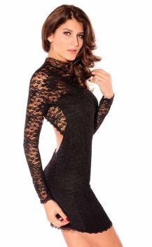 Stunning black short dresses outfits for party ideas 49