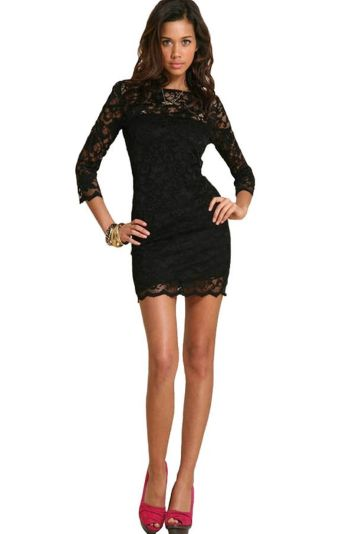 Stunning black short dresses outfits for party ideas 54