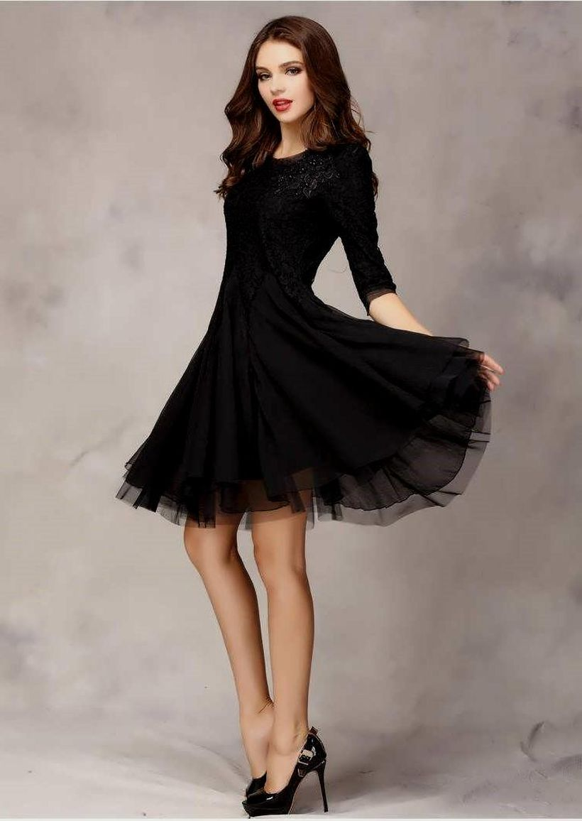Stunning black short dresses outfits for party ideas 92