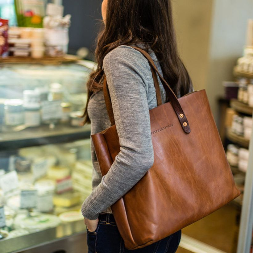 Stylish leather tote bags for work 42