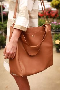 Stylish leather tote bags for work 74