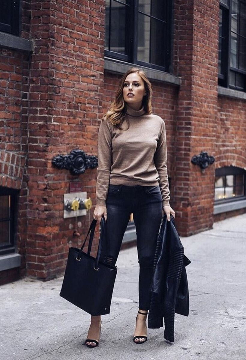 Stylish leather tote bags for work 79