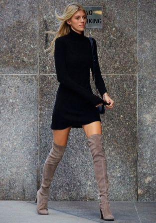 Trendy over the knee boots for winter and fall outfits 19
