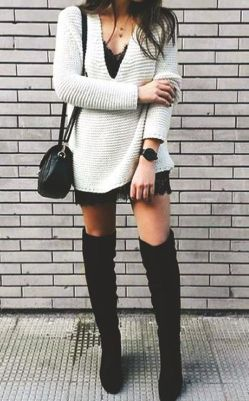 Trendy over the knee boots for winter and fall outfits 29