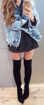 Trendy over the knee boots for winter and fall outfits 35