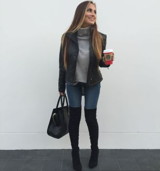 Trendy over the knee boots for winter and fall outfits 44