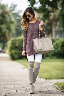 Trendy over the knee boots for winter and fall outfits 48