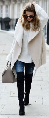Trendy over the knee boots for winter and fall outfits 50
