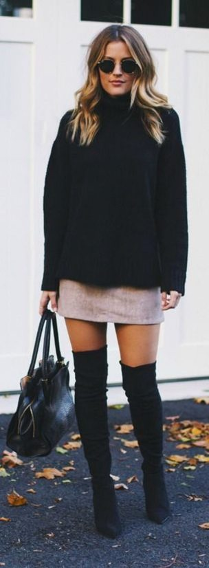 Trendy over the knee boots for winter and fall outfits 51