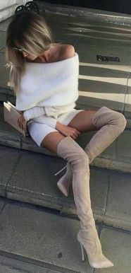 Trendy over the knee boots for winter and fall outfits 56