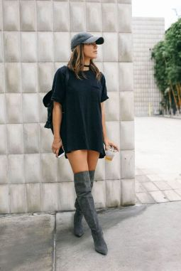 Trendy over the knee boots for winter and fall outfits 60