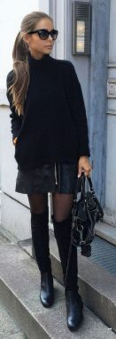 Trendy over the knee boots for winter and fall outfits 63