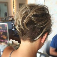 Cool short pixie ombre hairstyle ideas 17