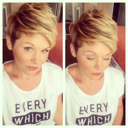 Cool short pixie ombre hairstyle ideas 21