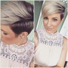 Cool short pixie ombre hairstyle ideas 24