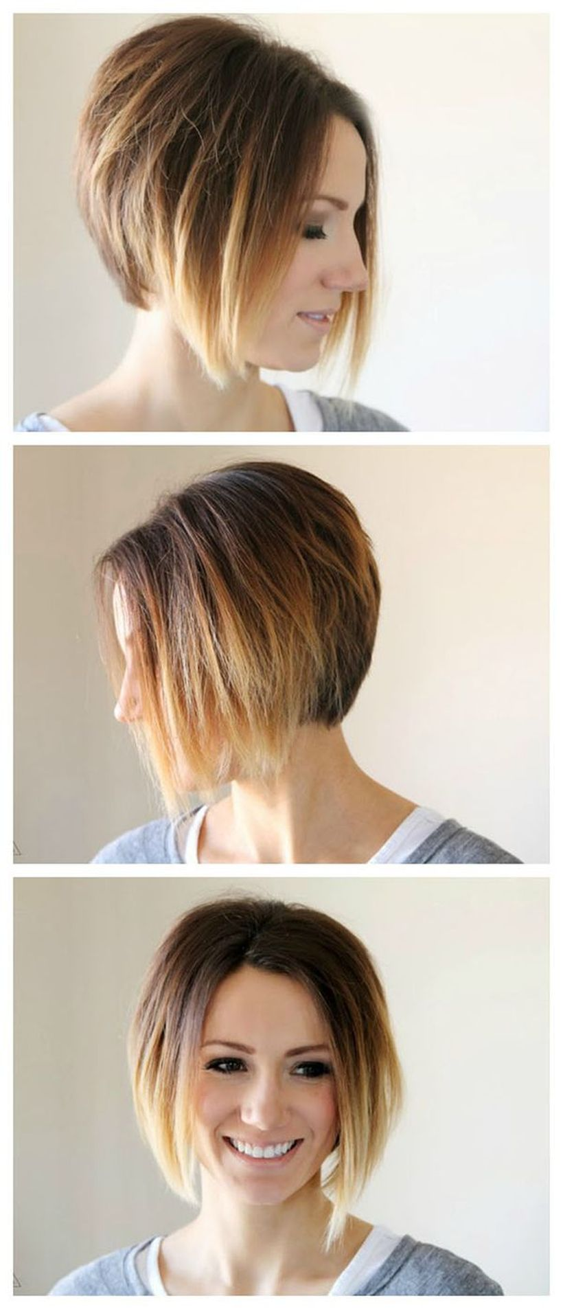 Cool short pixie ombre hairstyle ideas 25
